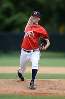 Atlanta Braves pitcher Brandon Barker (45) during an Instructional League game against the Houston Astros on September 22, 2014 at the ESPN Wide World of Sports Complex in Kissimmee, Florida.  (Mike Janes/Four Seam Images)