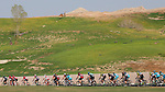 The peloton in action during Stage 3, The Al Ain Stage, of the 2015 Abu Dhabi Tour starting from the Al Qattara Souq in Al Ain and running 129 km to the mountain top finish at Jebel Hafeet at 1025 metres, Abu Dhabi. 10th October 2015.<br /> Picture: ANSA/Claudio Peri | Newsfile