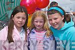 GREAT TIME: Niamh Murphy, Roisin OConnor and Katie OSullivan having fun at Fleadh Cheoil Chiarrai in Milltown last Sunday.   .