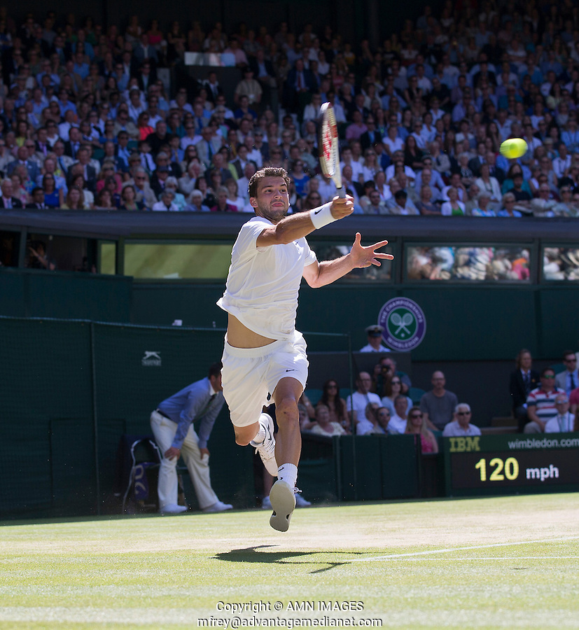 GRIGOR DIMITROV (BUL)<br /> The Championships Wimbledon 2014 - The All England Lawn Tennis Club -  London - UK -  ATP - ITF - WTA-2014  - Grand Slam - Great Britain -  4th July  2014. <br /> <br /> &copy; AMN IMAGES