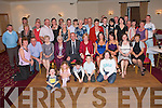 ANNIVERSARY: Gerard and Julie Moriarty, Lohercannon (seated 3rd & 4th left) having a great time celebrating their 30th Wedding Anniversary with family and friends at Kerins O'Rahilly clubhouse on Saturday..   Copyright Kerry's Eye 2008