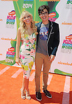 LOS ANGELES, CA- JULY 17: Actors Audrey Whitby (L) and Joey Bragg attend Nickelodeon Kids' Choice Sports Awards 2014 at Pauley Pavilion on July 17, 2014 in Los Angeles, California.