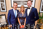 Padraig McGillicuddy, Patrice and Graham Gleasure attending the Scoil Eoin Valentine's Ball Fundraiser in the Ballygarry House Hotel on Friday night.