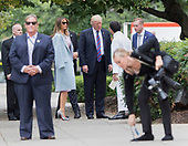 U.S. President Donald J. Trump and First Lady Melania Trump arrive at St. John's Church in Washington, DC, on a day of prayer for the people affected bt Hurricane Harvey, September 3, 2017. Photo By Chris Kleponis/ BloombergUnited States President Donald J. Trump and first lady Melania Trump arrive at St. John's Church in Washington, DC, on a day of prayer for the people affected by Hurricane Harvey, September 3, 2017. <br /> Credit: Chris Kleponis / Pool via CNP