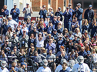 Washington, DC - March 31, 2018: Georgetown Hoyas fans celebrate after a goal during game between Denver and Georgetown at  Cooper Field in Washington, DC.   (Photo by Elliott Brown/Media Images International)