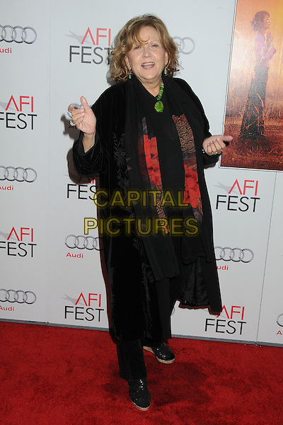 "Brenda Vaccaro.AFI Fest 2011 Gala Screening of ""The Lady"" held at Grauman's Chinese Theatre, Hollywood, California, USA..November 4th, 2011.full length black coat scarf hands green red .CAP/ADM/BP.©Byron Purvis/AdMedia/Capital Pictures."