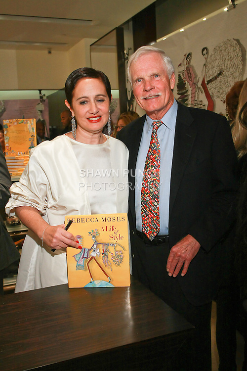 "Rebecca Moses and Ted Turner at the Rebecca Moses ""A Life of Style"" book signing at Fratelli Rossetti Boutique, November 11, 2010."