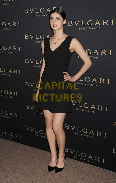 WEST HOLLYWOOD, CA- FEBRUARY 25: Actress Alexandra Daddario arrives at the BVLGARI 'Decades Of Glamour' Oscar Party Hosted By Naomi Watts at Soho House on February 25, 2014 in West Hollywood, California.<br /> CAP/ROT/TM<br /> &copy;Tony Michaels/Roth Stock/Capital Pictures