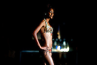 A contender for the crown on the catwalk during the 2009 MIss Ethiopia beauty pageant held at the Intercontinental Hotel in Ethiopia's Capital Addis Ababa on Sunday January 18 2009.
