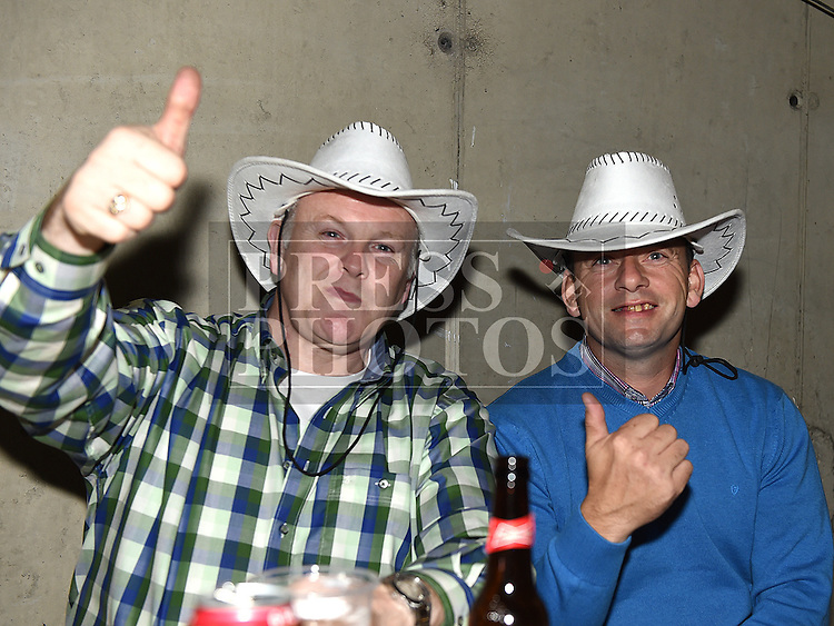 Pat Murtagh and Alan Gallagher at the Hooley on the Hill barn Dance on the Hill of Rath. Photo:Colin Bell/pressphotos.ie