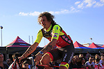Filippo Pozzato (ITA) Wilier Triestina-Selle Italia at the Team Presentation in Alghero, Sardinia for the 100th edition of the Giro d'Italia 2017, Sardinia, Italy. 4th May 2017.<br /> Picture: Eoin Clarke | Cyclefile<br /> <br /> <br /> All photos usage must carry mandatory copyright credit (&copy; Cyclefile | Eoin Clarke)