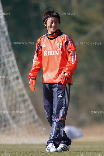 Yukari Kinga (JPN), FEBRUARY 11, 2012 - Football / Soccer : Nadeshiko Japan team training Wakayama camp at Kamitonda Sports Center in Wakayama, Japan. (Photo by Akihiro Sugimoto/AFLO SPORT) [1080]