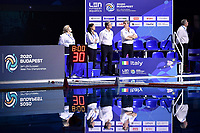 ZIZZA Paolo coach of Italy and staff <br /> Budapest 21/01/2020 Duna Arena <br /> RUSSIA (white caps) Vs. ITALY (blue caps) Women  <br /> Quarter finals <br /> XXXIV LEN European Water Polo Championships 2020<br /> Photo  © Andrea Staccioli / Deepbluemedia / Insidefoto