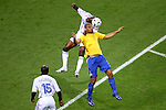 01 July 2006: William Gallas (FRA) (5) outjumps Adriano (BRA) (7) for a header. France defeated Brazil 1-0 at Commerzbank Arena in Frankfurt, Germany in match 60, a Quarterfinal game of the 2006 FIFA World Cup.