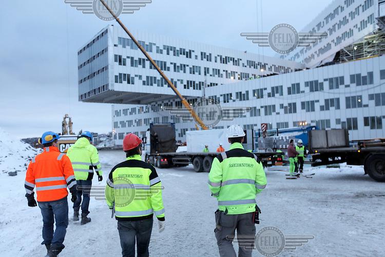 Moelven construction Statoil HQ at Fornebu