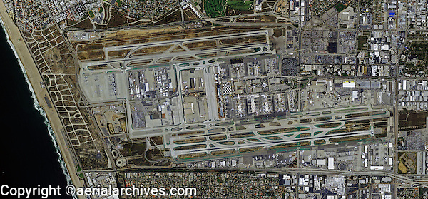 aerial photograph Los Angeles International airport LAX, California