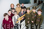 "Art and History Awards at a Special Ceremony to mark the Commemoration of 1916 at The Education Centre, Dromtacker on Monday. ""Fought For Freedom"" is the name of the video Front l-r   Danny Ignatov, Kian Jones and James Moran. Back l-r  Ben O'Sullivan, Jamie Mazzelle, Thomas Moriarty, Shane Guerin, Al Harazi, Conor Mitchell, Principal Moira Quinlan, aaron Poskevicius and Eoin Sayers.Teacher  Pupils from 5th Class"