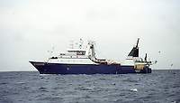 The F/V Starbound, a dragger, also known as a trawler, fishes for pollock in the Bering Sea.