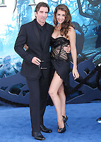 HOLLYWOOD, LOS ANGELES, CA, USA - MAY 28: Sharlto Copley, Tanit Phoenix at the World Premiere Of Disney's 'Maleficent' held at the El Capitan Theatre on May 28, 2014 in Hollywood, Los Angeles, California, United States. (Photo by Xavier Collin/Celebrity Monitor)