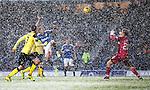 Martyn Waghorn lobs in goal no 4 in a snowstorn