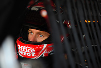 Sept. 27, 2008; Kansas City, KS, USA; Nascar Sprint Cup Series driver Carl Edwards during practice for the Camping World RV 400 at Kansas Speedway. Mandatory Credit: Mark J. Rebilas-
