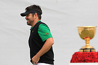 Louis Oosthuizen (International) on the 1st tee during the Second Round - Foursomes of the Presidents Cup 2019, Royal Melbourne Golf Club, Melbourne, Victoria, Australia. 13/12/2019.<br /> Picture Thos Caffrey / Golffile.ie<br /> <br /> All photo usage must carry mandatory copyright credit (© Golffile | Thos Caffrey)