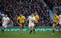 Twickenham, United Kingdom. George FORD running withe ball, during the Old Mutual Wealth Series Rest Match: England vs Australia, at the RFU Stadium, Twickenham, England, <br /> <br /> Saturday  03/12/2016<br /> <br /> [Mandatory Credit; Peter Spurrier/Intersport-images]
