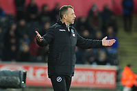 Gary Rowett Manager of Millwall during the Sky Bet Championship match between Swansea City and Millwall at the Liberty Stadium in Swansea, Wales, UK. Saturday 23rd November 2019