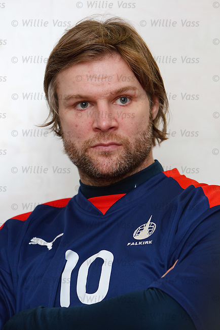 Steven Pressley at Falkirk's training centre at Stirling University campus