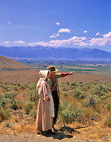 Reinactors at Oregon Trail Interpretive Center. Near Baker, Oregon