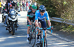 Marc Soler (ESP) Movistar Team and Gregor Muhlberger (AUS) Bora-Hansgrohe the last of the breakaway group near the end of Stage 4 of the Volta Ciclista a Catalunya 2019 running 150.3km from Llanars (Vall De Camprodon) to La Molina (Alp), Spain. 28th March 2019.<br /> Picture: Colin Flockton | Cyclefile<br /> <br /> <br /> All photos usage must carry mandatory copyright credit (© Cyclefile | Colin Flockton)