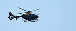 Police Scotland chopper keeping an eye in the sky above Firhill