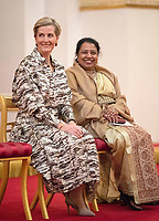 03 March 2019 - Sophie Countess of Wessex and Visaka Dharmadasa, a peace activist during a reception at Buckingham Palace for Women Peacebuilders on International Womens Day London. Photo Credit: ALPR/AdMedia