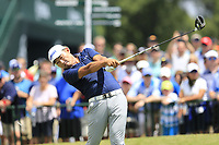 Sung Kang (KOR) tees off the 1st tee to start Saturday's Round 3 of the 2017 PGA Championship held at Quail Hollow Golf Club, Charlotte, North Carolina, USA. 12th August 2017.<br /> Picture: Eoin Clarke | Golffile<br /> <br /> <br /> All photos usage must carry mandatory copyright credit (&copy; Golffile | Eoin Clarke)