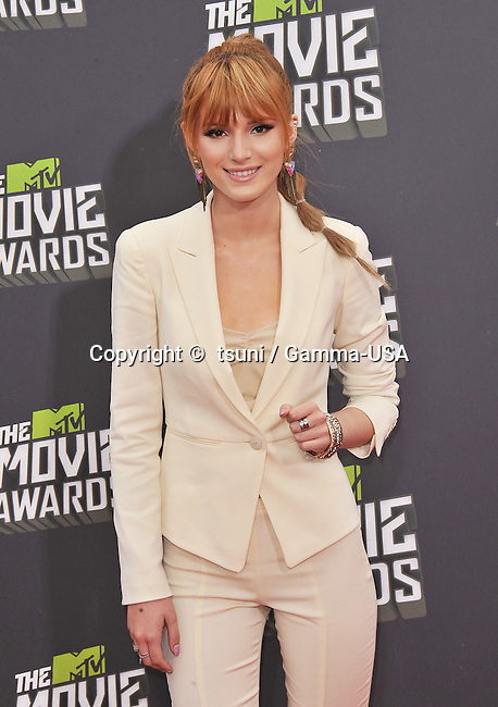 Bella Thorne  arriving at the  MTV Movie Awards 2013 on the Sony Studio Lot in Los Angeles.