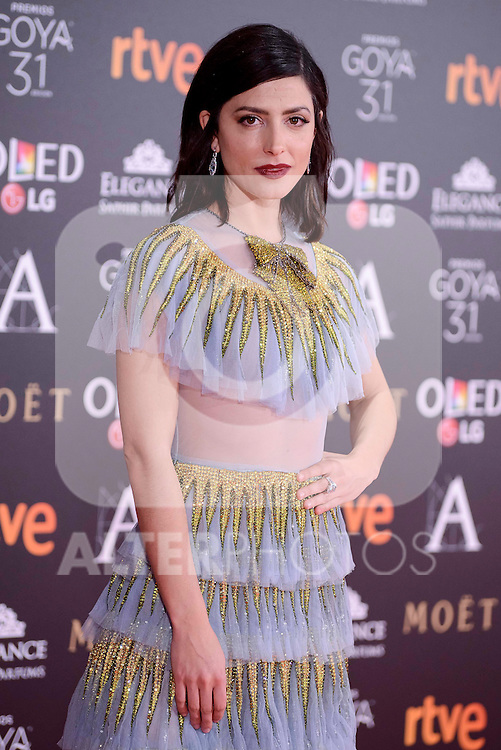 Barbara Lennie attends to the Red Carpet of the Goya Awards 2017 at Madrid Marriott Auditorium Hotel in Madrid, Spain. February 04, 2017. (ALTERPHOTOS/BorjaB.Hojas)