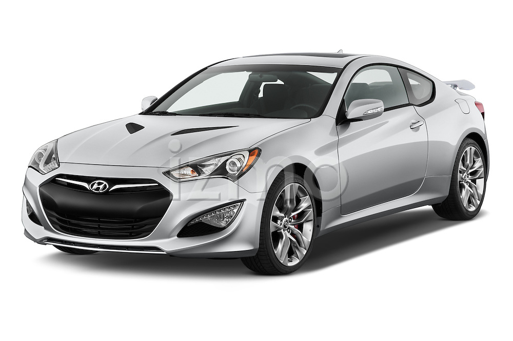 2015 Hyundai Genesis Coupe 3.8T 8-Speed A/T 2 Door Coupe 2WD Angular Front stock photos of front three quarter view