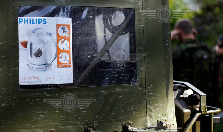 Water boiler, part of the essential kit for Norwegian Home Guard soldiers during exercise Djerv..The Home Guard has traditionally been designated to secure important  domestic installations in case of war or crisis. With the cold war long gone, a war in Afghanistan and budget cuts, there is a debate over the Home Guard's role in the future.