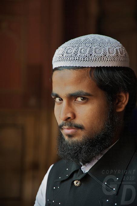A proud Muslim at the Jama Masjid MosqueNew Delhi India