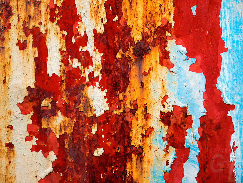 Rusty and paint chipped Door