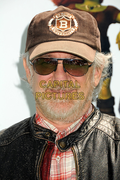 "STEVEN SPIELBERG.Attending the ""Shrek Forever After"" Los Angeles Film Premiere held at the Gibson Amphitheatre, Universal City, California, USA, 16th May 2010..arrivals portrait headshot cap hat sunglasses black leather beard facial hair .CAP/ADM/BP.©Byron Purvis/AdMedia/Capital Pictures."