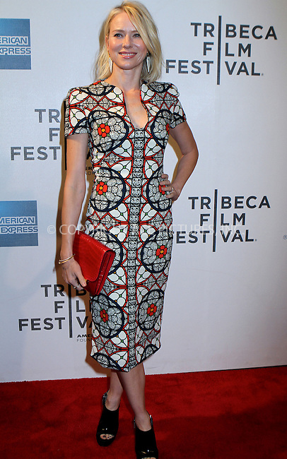WWW.ACEPIXS.COM......April 20, 2013, New York City, NY.....Naomi Watts arriving at the screening of 'Sunlight Jr.' at the 2013 Tribeca Film Festival at BMCC Tribeca PAC on April 20, 2013 in New York City. ..........By Line: Nancy Rivera/ACE Pictures....ACE Pictures, Inc..Tel: 646 769 0430..Email: info@acepixs.com