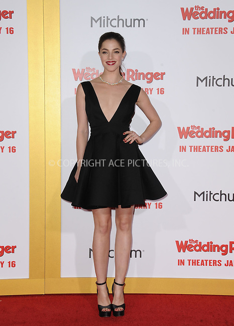 WWW.ACEPIXS.COM<br /> <br /> January 6 2015, LA<br /> <br /> Olivia Thirlby arriving at 'The Wedding Ringer' World Premiere at the TCL Chinese Theatre on January 6, 2015 in Hollywood, California. <br /> <br /> <br /> By Line: Peter West/ACE Pictures<br /> <br /> <br /> ACE Pictures, Inc.<br /> tel: 646 769 0430<br /> Email: info@acepixs.com<br /> www.acepixs.com