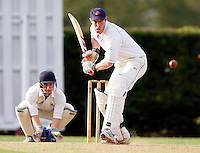 J Baker bats for North London during the Middlesex County League Division three game between Wembley and North London at Vale Farm, Wembley on Sat August 6, 2011