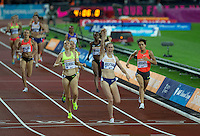 Laura WEIGHTMAN of GBR (Women's 1500m) wins the 1500m during the Sainsburys Anniversary Games Athletics Event at the Olympic Park, London, England on 24 July 2015. Photo by Andy Rowland.