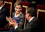 Queen Letizia Ortiz at Campoamor Theater in Oviedo to deliver the Prince of Asturias Awards 2014. 2014/10/24 Samuel de Roman / Photocall3000