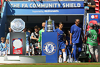 Chelsea Manager, Maurizio Sarri leads out his Chelsea team during Chelsea vs Manchester City, FA Community Shield Football at Wembley Stadium on 5th August 2018