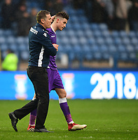 Bolton Wanderers manager Phil Parkinson, left, with Bolton Wanderers' Reece Burke at the end of the game<br /> <br /> Photographer Chris Vaughan/CameraSport<br /> <br /> The EFL Sky Bet Championship - Sheffield Wednesday v Bolton Wanderers - Saturday 10th March 2018 - Hillsborough - Sheffield<br /> <br /> World Copyright &copy; 2018 CameraSport. All rights reserved. 43 Linden Ave. Countesthorpe. Leicester. England. LE8 5PG - Tel: +44 (0) 116 277 4147 - admin@camerasport.com - www.camerasport.com