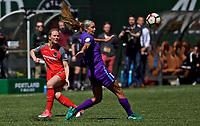 Portland, OR - Saturday April 15, 2017:  during a regular season National Women's Soccer League (NWSL) match between the Portland Thorns FC and the Orlando Pride at Providence Park.