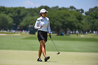 Jenny Shin (KOR) sinks her par putt on 4 during round 3 of the 2019 US Women's Open, Charleston Country Club, Charleston, South Carolina,  USA. 6/1/2019.<br /> Picture: Golffile | Ken Murray<br /> <br /> All photo usage must carry mandatory copyright credit (© Golffile | Ken Murray)